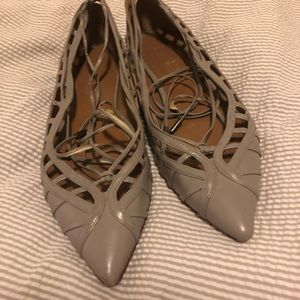 Beautiful Aquazzura lace up flats size 36
